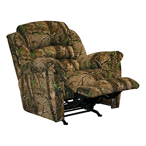4659-2-2657-15 (Mossy Oak New Breakup) Catnapper Cloud Nine Chaise Rocker Recliner Oversized with X-tra Comfort Footrest. Free Curbside Delivery.