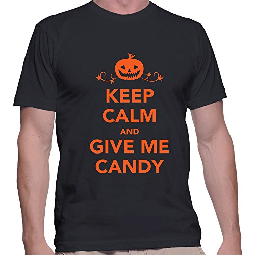 Keep Calm And Give Candy Halloween T Shirt Small Black