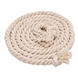 AoDao Natural Twisted Cotton Rope Strand Artisan Cord 15 mm Diameter | Order by the Foot & Diameter |
