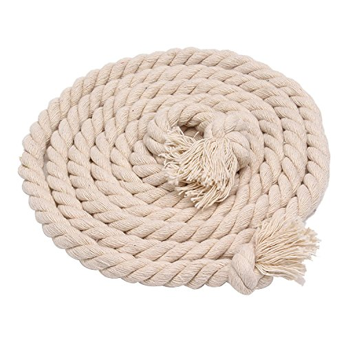 Turbokey 5mm Diameter Cotton Rope Natural Twisted Strand Artisan Strong Cord Thick Rope String for Christmas Decor DIY Craft Home Garden Decoration   Order by The Foot & Diameter  (Dia 5mm) ()