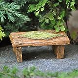 Miniature Fairy Garden Leaf Wishing Bench Green For Sale
