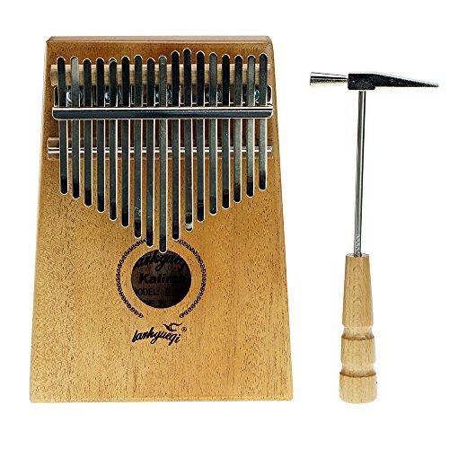 5. 17 Key Mahogany Kalimba African Thumb Piano