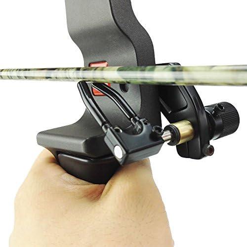 1pc Arrow Rest Plastic Recurve Bow Right Hand Black Colorshooting accessoriO`US