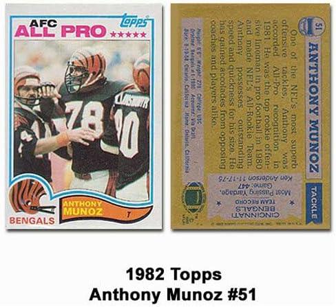 Topps Cincinnati Bengals Anthony Munoz 1982 Rookie Card