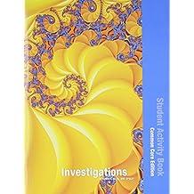 INVESTIGATIONS 2012 COMMON CORE STUDENT ACTIVITY BOOK SINGLE VOLUME ED  GRADE K