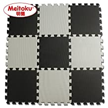 "Meitoku Solid EVA foam puzzle mat /Waterproof Interlocking Exercise Tiles Each Tiles 12""x12"" 3/8""Thick"