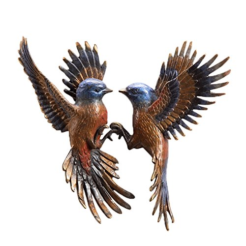 SPI Beautiful Flight Minivet Birds Pair Wall Plaque