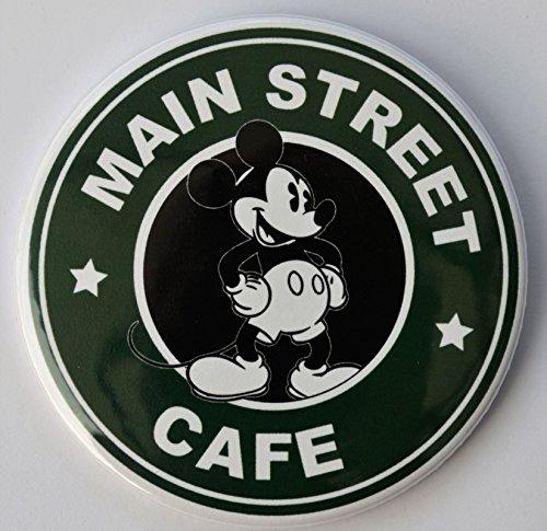 Magic Kingdom Main Street Coffee Cafe Pin Back Button - 3