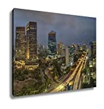 Ashley Canvas View Of Jakarta City Indonesia Wall Art Decoration Picture Painting Photo Photograph Poster Artworks, 20x25
