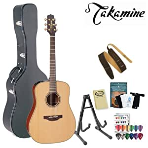 takamine p3d pro series acoustic electric guitar with stand humidifier pack suede. Black Bedroom Furniture Sets. Home Design Ideas
