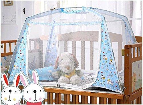 CdyBox-Zippered-Baby-Kid-Children-Nursery-Bed-Crib-Mongolia-Pack-Folding-Cot-Mosquito-Net-Yurt-with-Stand