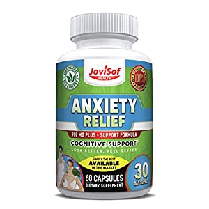 51yiF8d0VDL. SS300  - Anxiety Relief Supplement With 5-HTP, Ashwagandha and Artichoke   Soothing Stress Support & Mood Enhancer   All Natural Anti-Anxiety Supplements   Calm Sleeping Pills   60 Count