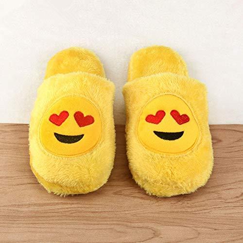 Donna Winter Cartoon Femminili Confortevole Pantofole Coperta Cute Women Infradito Ysfu Slippers Yellow faqwT0
