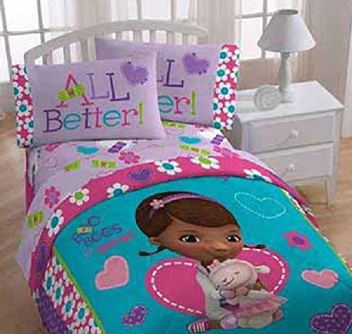 Disney Junior Doc Mcstuffins Super Soft, Cozy, Plush 3-piece Kids Twin Sheet