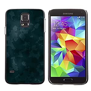 Smartphone Rígido Protección única Imagen Carcasa Funda Tapa Skin Case Para Samsung Galaxy S5 SM-G900 Texture Blue Camoo / STRONG