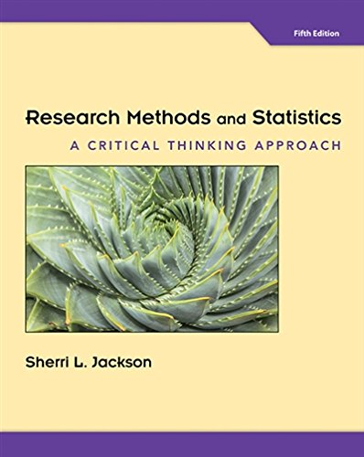 1305257790 - Research Methods and Statistics: A Critical Thinking Approach