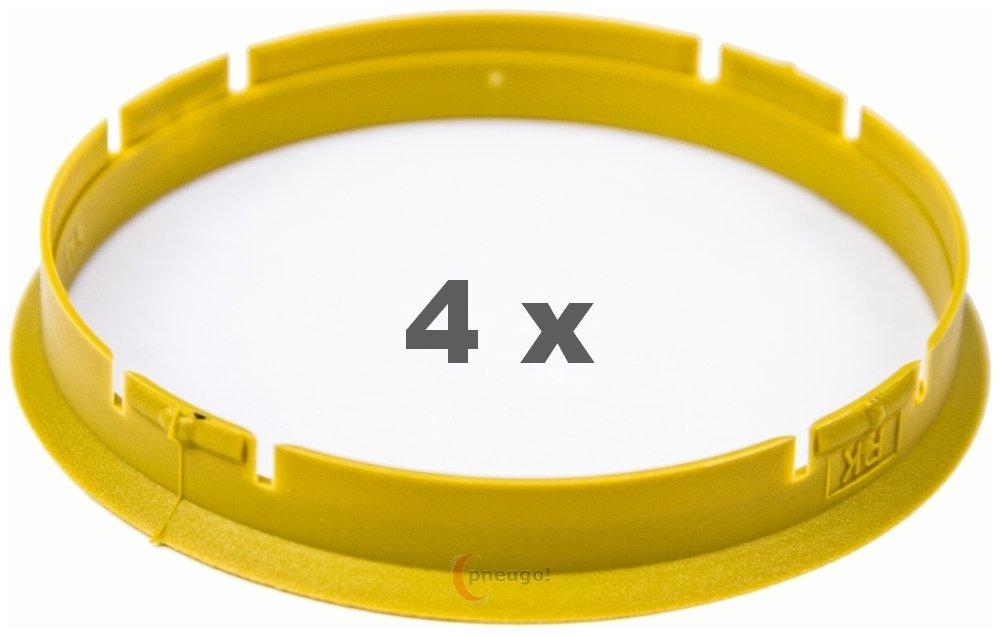 4/x Bague de Centrage 73.0/mm sur 71.0/mm Jaune//Yellow