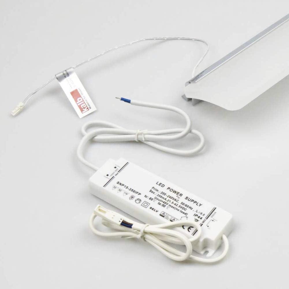 LED 600mm Spiegelleuchte Badleuchte Badlampe Spiegellampe Aufbauleuchte, Lichtfarbe:warmweiß 600mm - Warmweiß
