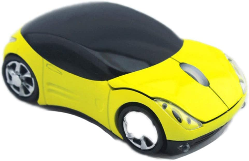 Sport Car Wireless Mouse Optical Mouse Mice Ergonomic Design for PC Laptop Red