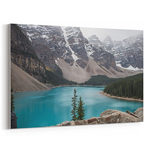 Westlake Art - Lake Water - 12x18 Canvas Print Wall Art - Canvas Stretched Gallery Wrap Modern Picture Photography Artwork - Ready to Hang 12x18 Inch (F897-F44A1) ()