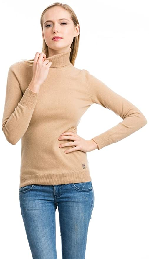 Turtleneck Sweater, Women - 100% Cashmere