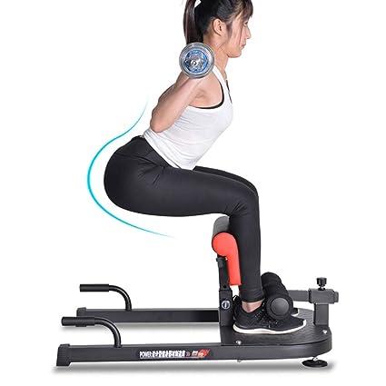 YTBLF Máquina en Cuclillas Multifuncional, máquina de Ejercicios para el Ejercicio de la Cadera de la Pierna Abdominal Profunda Sissy de Gimnasio en el ...