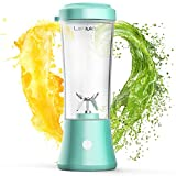 LaHuko Portable Blender Personal Size Blender Juicer Cup for Juice Crushed-ice Smoothie Shake, Two Rotating Speed, USB Rechargeable, Waterproof Blender for Outdoor Picnic Travel Gym