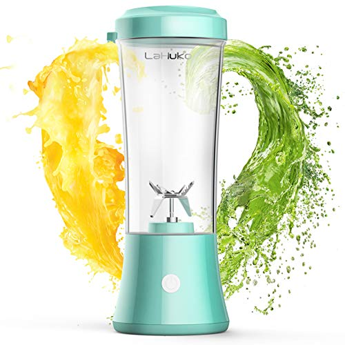 LaHuko Portable Blender Personal Size Blender Juicer Cup for Juice Crushed-ice Smoothie Shake, Two Rotating Speed, USB Rechargeable, Waterproof Blender for Outdoor Picnic Travel Gym (Best Blender For Smoothies Under $100)