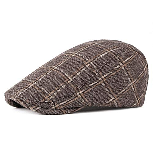 Men's Newsboy Gatsby Hat Vintage Beret Flat Ivy Cabbie Driving Hunting Cap for Boyfriend ()