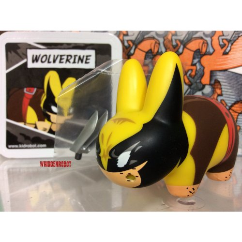 "Kidrobot Marvel Labbit Mini Series 2 Wolverine 2.5"" Vinyl Figure (Opened to Identify)"
