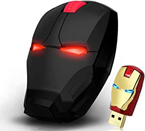 Cool Wireless Mouse USB Game Mice 2.4 G Portable Mobile Computer Click Silent Optical Mice with USB Receiver for Notebook PC Laptop Computer MacBook