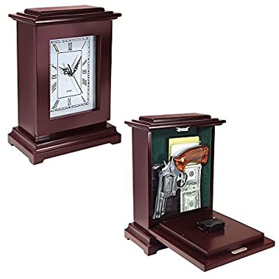 Peace Keeper Tall Rectangular Working Clock Gun Concealment Diversion Safe