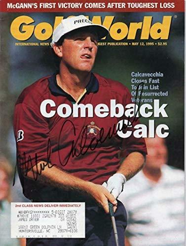Mark Calcavecchia Autographed Signed Memorabilia Golf World Magazine - Certified Authentic Autographed Golf World Magazine