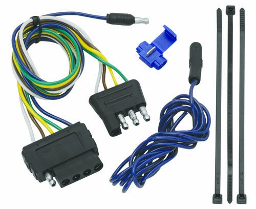 Tow Ready 20136 4-Flat To 5-Flat Connector Assembly (4 Way Flat Wiring)
