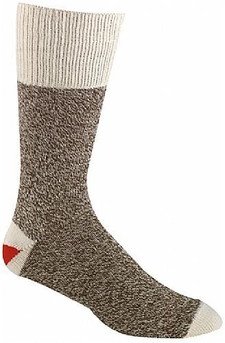 Fox River Original Rockford Red Heel Cotton Monkey Sock Brown Tweed Medium ()