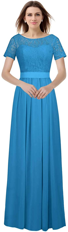 bluee VaniaDress Women A Line Long Prom Evening Dress Bridesmaid Gowns V230LF