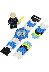 LEGO Kids' 9002892 Star Wars Luke Skywalker Plastic Watch with Link Bracelet and Figurine