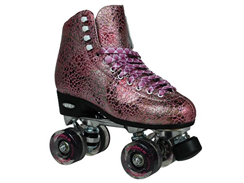Epic Skates Sparkle High-Top Quad Roller Skates ()