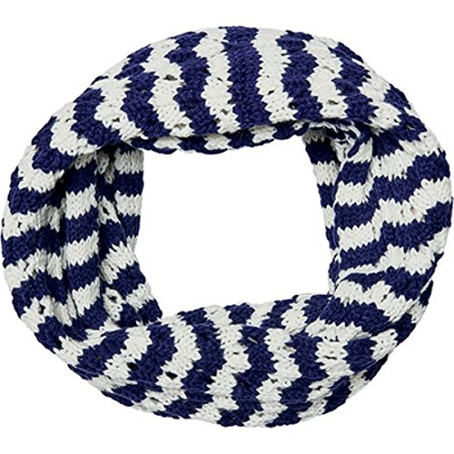 (サンディエゴハット) San Diego Hat Company レディース マフラースカーフストール Knit Open Weave Stripe Infinity Scarf BSS3481 [並行輸入品] B079JJ69NY   One Size