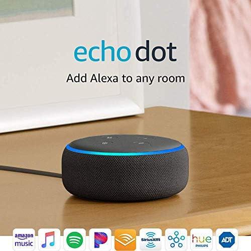 Certified Refurbished Echo Dot (third Gen) - Smart speaker with Alexa - Charcoal