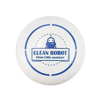 YENJOS - Mini robot aspirador doméstico inteligente automático con base de limpieza Blanco: Amazon.es: Hogar