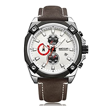 d8ec50b028e Buy MEGIR Men Sport Watch Relogio Masculino Top Brand Luxury Chronograph  Quartz Military Army Watches Online at Low Prices in India - Amazon.in