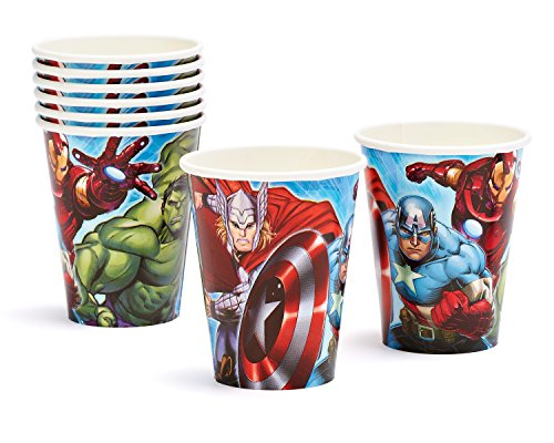 Marvel Avengers 9-Ounce Paper Party Cups, Pack of 8, Party Supplies