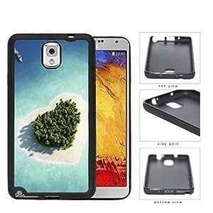 Heart Shaped Paradise Island Rubber Silicone TPU Cell Phone Case Samsung Galaxy Note 3 III N9000 N9002 N9005