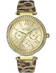Caravelle New York Womens 44N103 Analog Display Analog Quartz Yellow Watch
