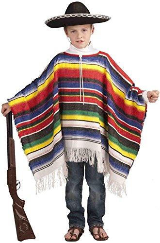 Mememall Fashion Cinco De Mayo Mexican Poncho Fiesta Child Costume (Mexican Ladies Costume)