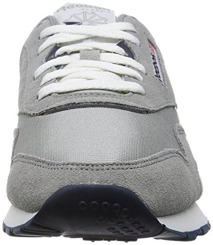 Adulte Nylon Basses Classic Mixte Reebok Argenté Sneakers wXO5PP