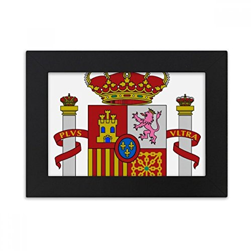 DIYthinker Spain Europe National Emblem Desktop Photo Frame Black Picture Art Painting 5x7 inch by DIYthinker