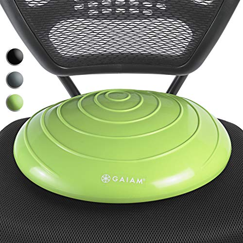 Gaiam Balance Disc Wobble Cushion Stability Core Trainer for Home or Office Desk Chair & Kids Classroom Sensory Wiggle Seat, ()