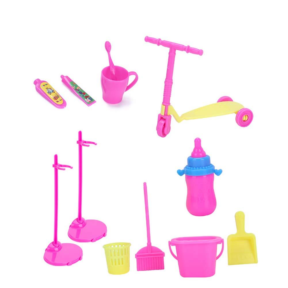 Xiton 98PCS//Set Completi Bambola Accessori Kit Tacchi Alti Cucina Forniture Pulizia Strumenti di Abbigliamento Accessori per Barbi